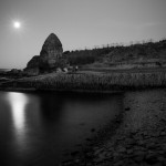 Moonrise over Staxigoe Harbour